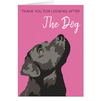 Cartão Obrigado preto de Labrador você para ocupar do cão
