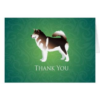 Cartão Obrigado que do cão do Malamute do Alasca você
