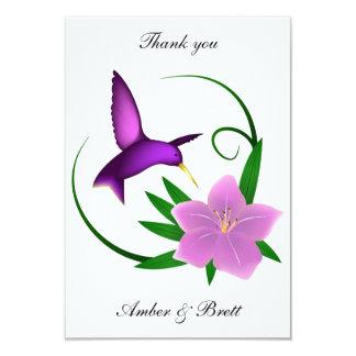 """Cartão Obrigado que do """"colibri"""" você nota"""