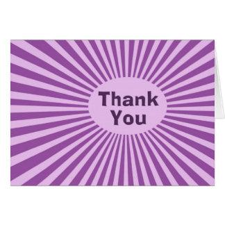 Cartão Obrigado roxo de Starburst você