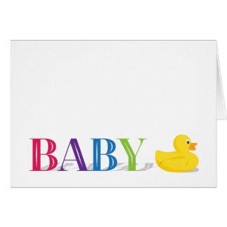 Cartão Obrigado sofisticado do bebê do arco-íris do pato