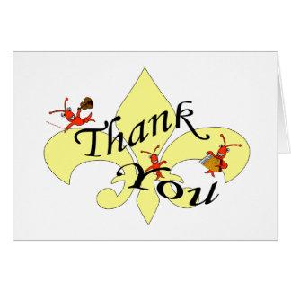 Cartão Obrigado temático dos lagostins de Cajun você