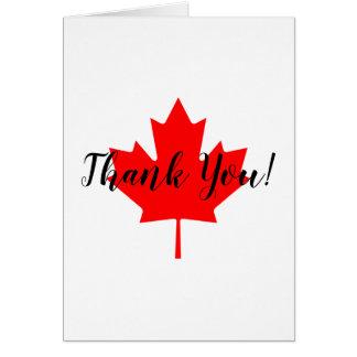 Cartão Obrigado vermelho da folha de bordo você