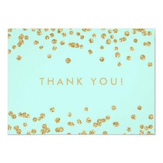 Cartão Obrigado Wedding você verde da hortelã dos