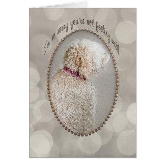 Cartão Obtenha o poço - cachorrinho triste!
