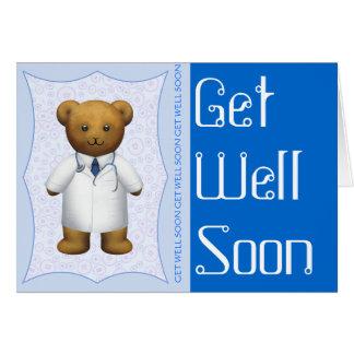 Cartão Obtenha o urso do doutor ursinho do poço logo -