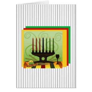 Cartão Oferta do feriado Notecards de Kwanzaa da