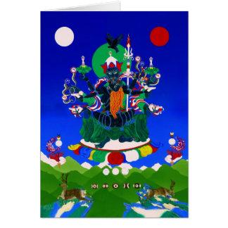 Cartão Ögyen preto Chenrezigs [cartão]