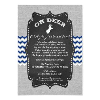 Cartão Oh o bebê do fanfarrão dos cervos polvilha o