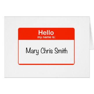 Cartão Olá! Mary Chris Smith