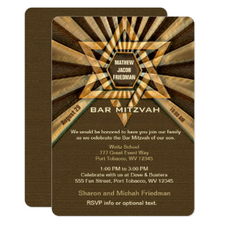 Cartão Olhar artístico de Mitzvah Brown do bar