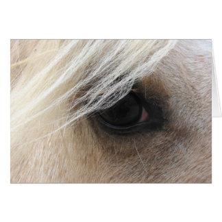 Cartão Olho do cavalo do Palomino, dia dos pais