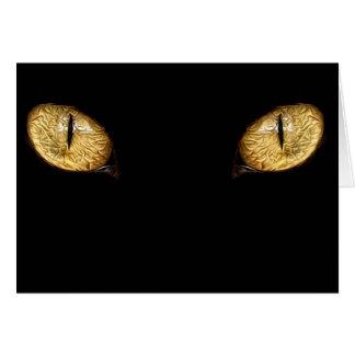 Cartão olhos de gatos