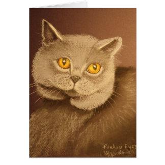 Cartão Olhos de Punkin