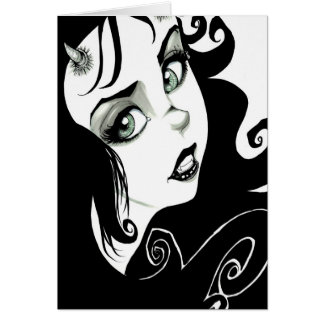 Cartão Olhos do demónio