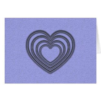 Cartão Ondinha azul do coração