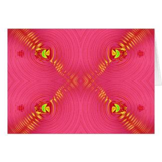 Cartão ondinha cor-de-rosa