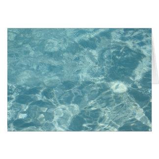 Cartão Ondinha da água