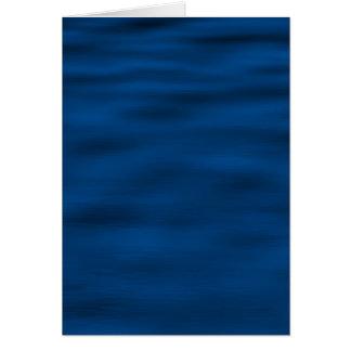 Cartão Ondinhas azuis escuro da água
