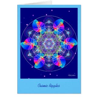 Cartão Ondinhas cósmicas