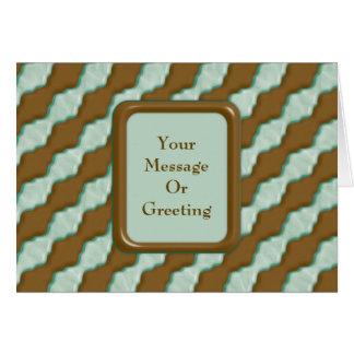 Cartão Ondinhas onduladas - hortelã do chocolate