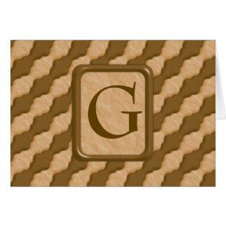 Cartão Ondinhas onduladas - manteiga de amendoim do