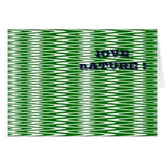 Cartão Ondinhas verde & branco