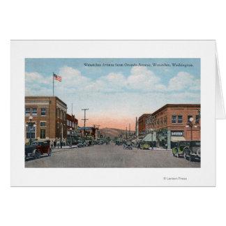 Cartão Opinião da avenida de Wenatchee da avenida de