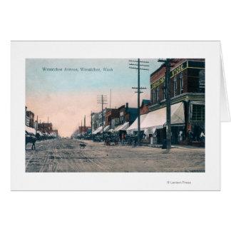 Cartão Opinião da rua da avenida de Wenatchee