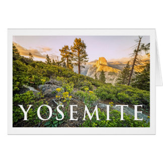 Cartão Opinião de YOSEMITE do ponto da geleira