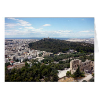 Cartão opinião verde de Atenas