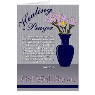 Cartão Oração cura