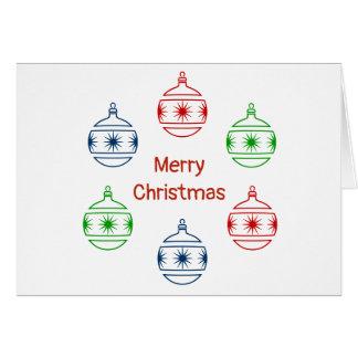 Cartão - ornamento do feriado