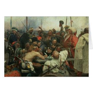 Cartão Os Cossacks de Zaporozhye