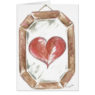 Cartão Os olhos que espelham o coração