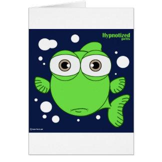 Cartão Os peixes cardam, os envelopes brancos padrão