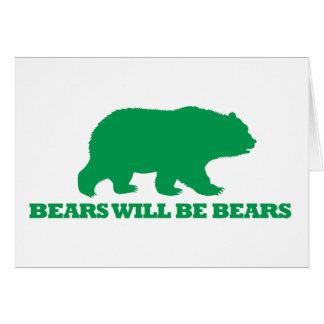 Cartão Os ursos serão ursos