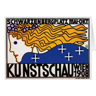 Cartão ou Invitiation: Kunstschau Wien (mostra de