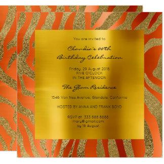 Cartão Ouro alaranjado coral da mostarda da pele animal