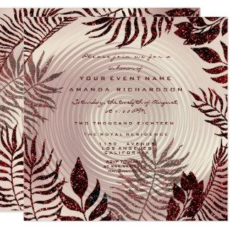 Cartão Ouro cor-de-rosa Borgonha da grinalda tropical das