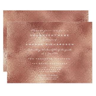 Cartão Ouro cor-de-rosa Elegan mínimo do pêssego de vidro