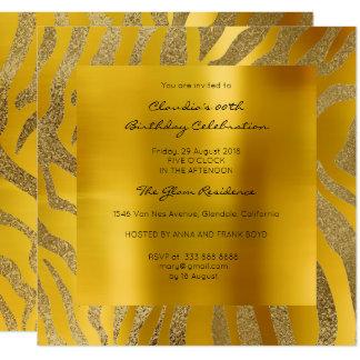 Cartão Ouro da mostarda do amarelo da pele animal do