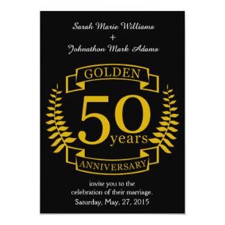 Cartão Ouro DOURADO 50 anos de aniversário de casamento