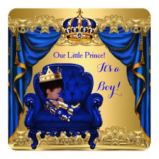 Cartão Ouro pequeno do príncipe azul marinho do menino do