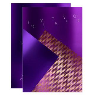 Cartão Ouro roxo da ameixa do metal conceptual de