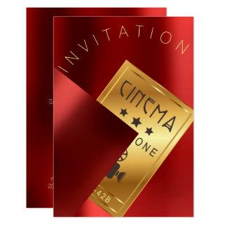 Cartão Ouro vermelho do rubi do metal do evento do