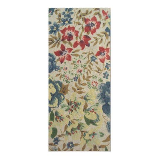 Cartão padrão de flores