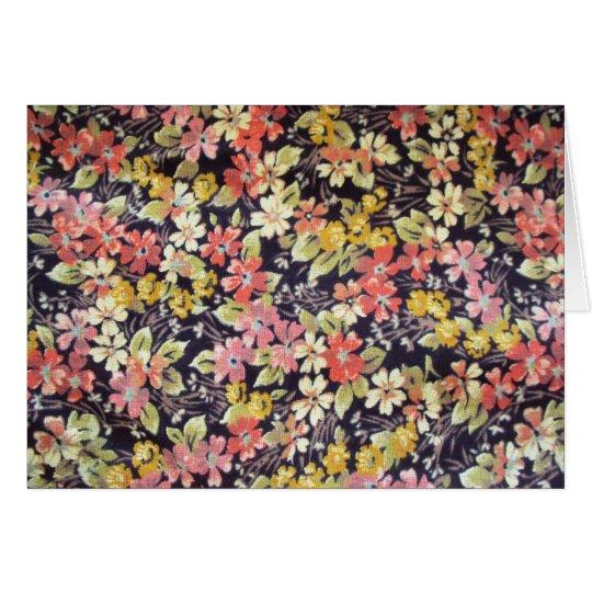 Cartão padrão de florinhas