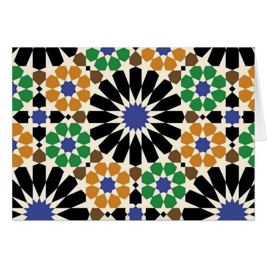 Cartão padrão de formas geometricas