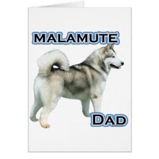 Cartão Pai 4 do Malamute do Alasca